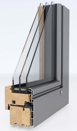 Unilux livingline for Alu holz fenster